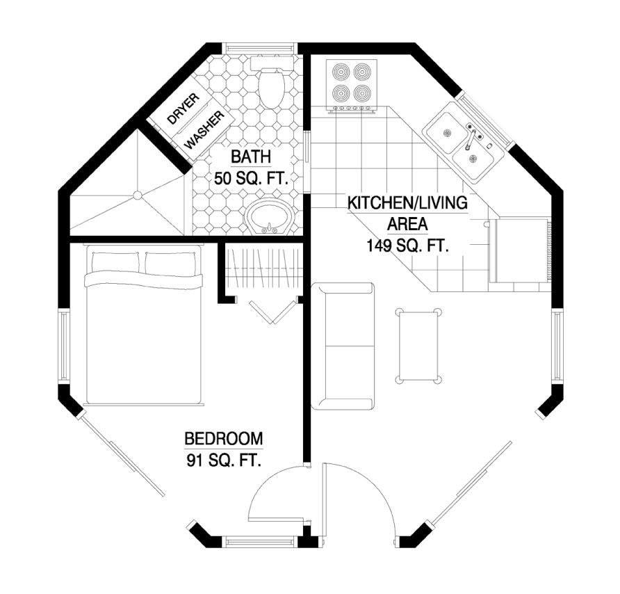 The Hampton floorplan image